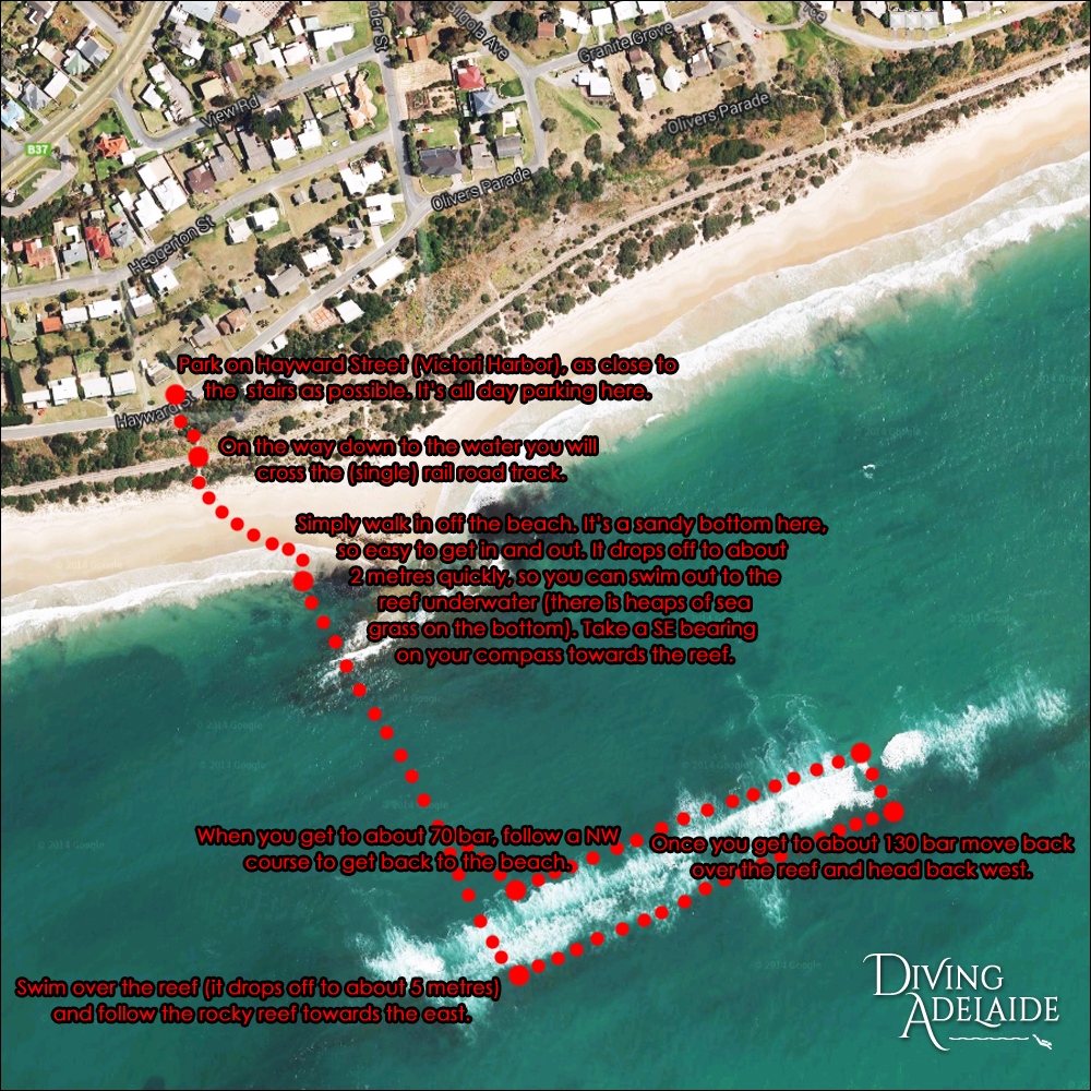 Olivers Reef Victor Harbor Map