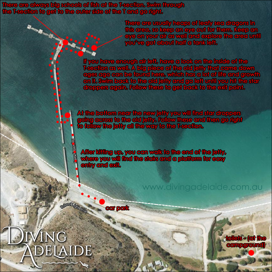 Rapid Bay Dive Site Map