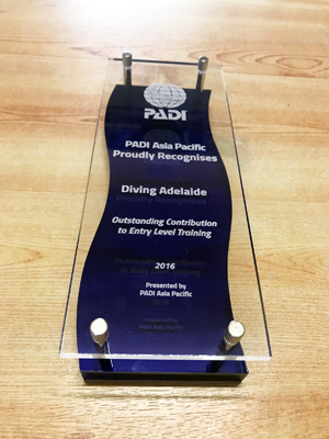 PADI Outstanding Contribution to Entry Level Training