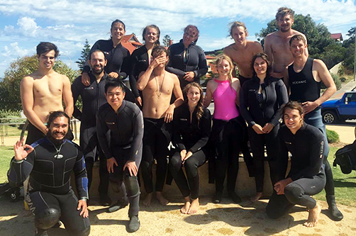 PADI Open Water Diver Course Group at Port Noarlunga