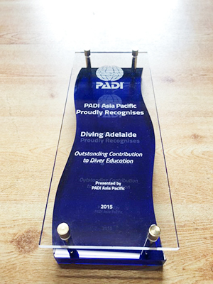 PADI Outstanding Contribution to Diver Education